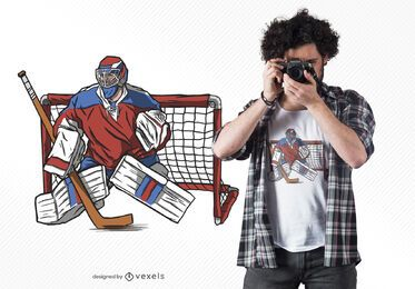 Hockey Goalkeeper T-shirt Design