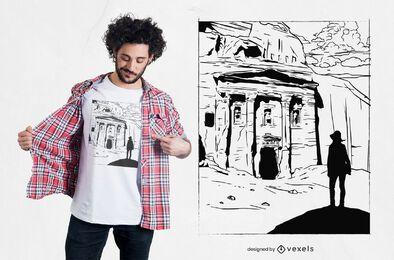 Petra Ruins T-shirt Design
