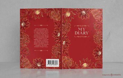 Design floral decorativo da capa do livro