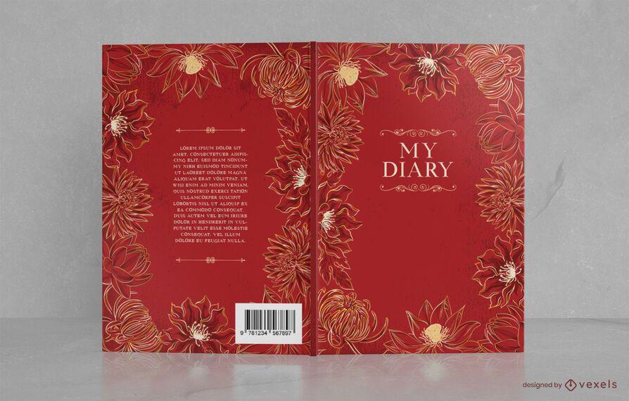 Ornamental Floral Book Cover Design