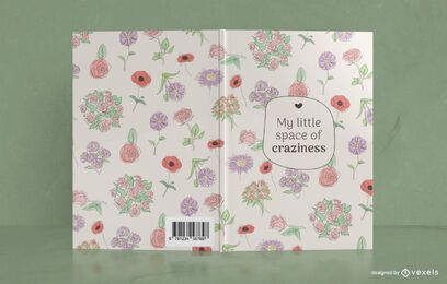 Design de capa de livro floral Space of Craziness