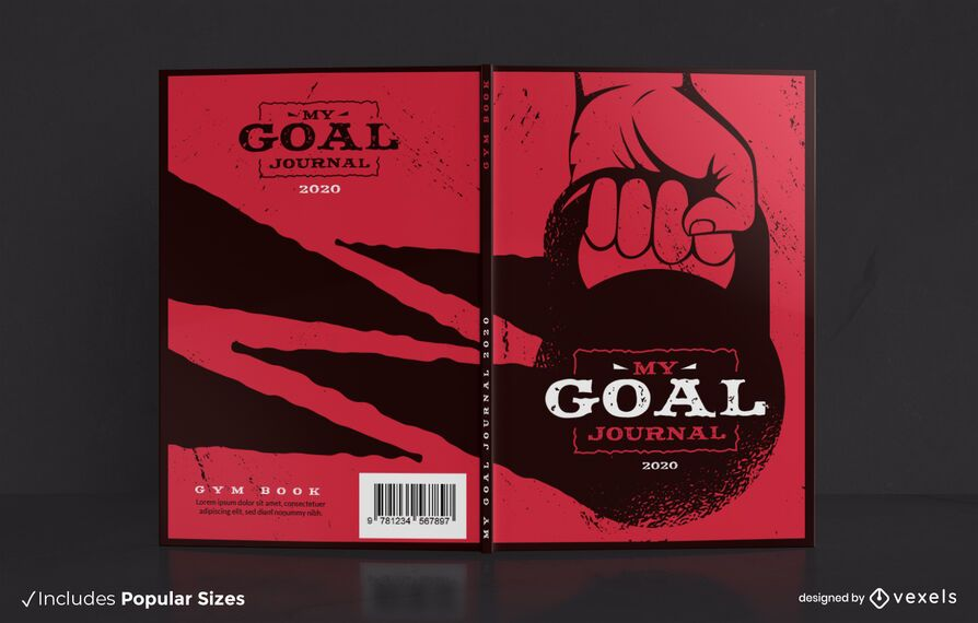 Gym Journal Book Cover Design