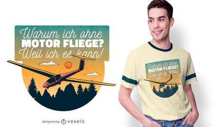 Volando sin diseño de camiseta de motor.