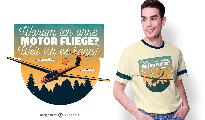 Volando sin dise?o de camiseta de motor.