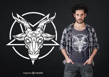 Design de camiseta com pentagrama Baphomet