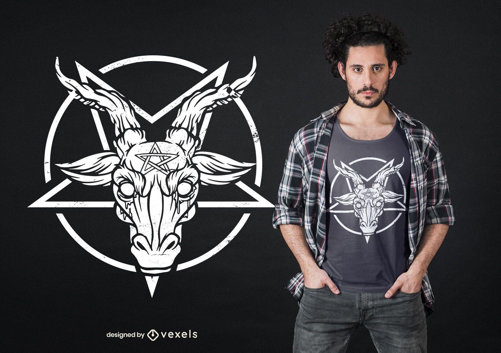 Baphomet pentagram t-shirt design