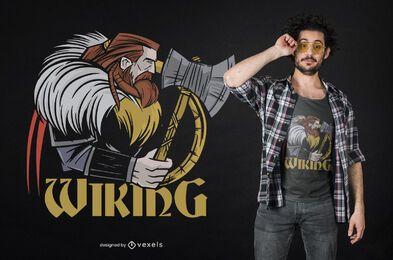 Diseño de camiseta lateral vikinga.