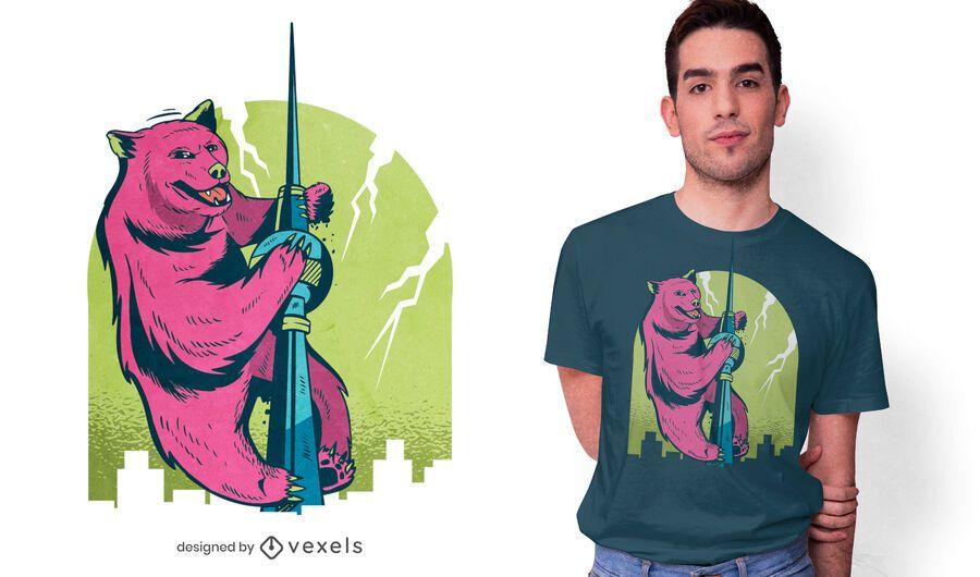 Bear tower t-shirt design