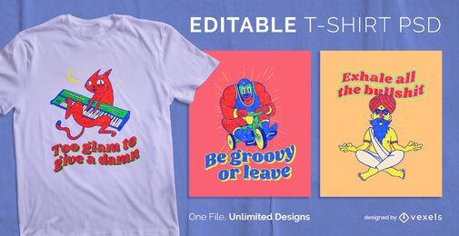 Groovy t-shirt design psd