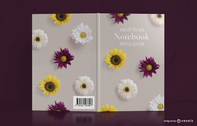 Real Flowers Notebook Cover Design