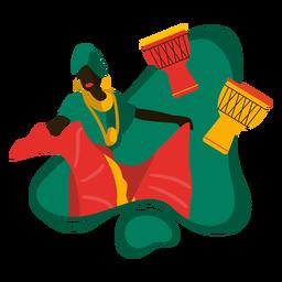 Ilustración tradicional africana de Kwanzaa