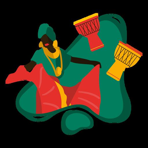 Ilustraci?n tradicional africana de Kwanzaa
