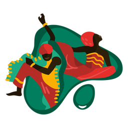 Kwanzaa bailando ilustración tradicional