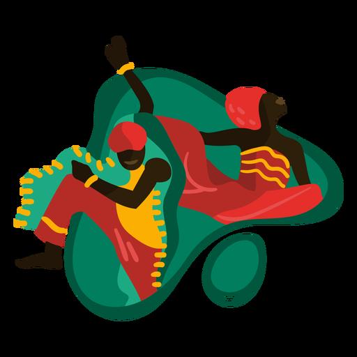 Kwanzaa dancing traditional illustration