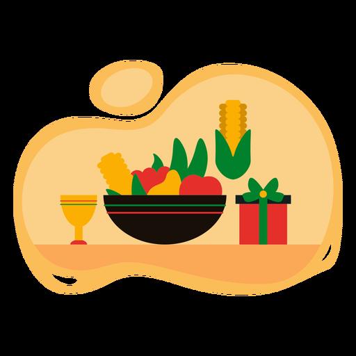 Kwanzaa feast illustration