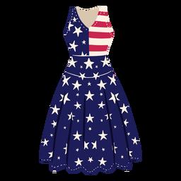 Ilustración de vestido estampado americano