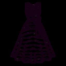 Traço de vestido estampado americano