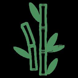 Traço de folhas curtas de grama de bambu