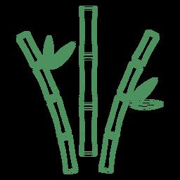 Trazo de hierba de planta verde de bambú