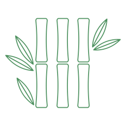 Bamboo Plant Green Grass Stroke Transparent Png Svg Vector File