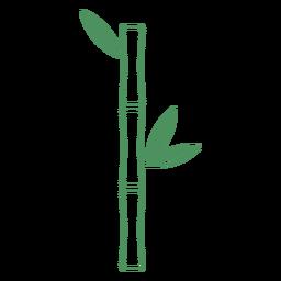 Planta de bambú trazo verde