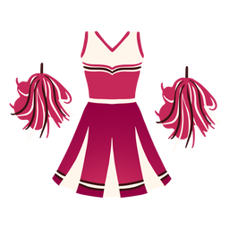 Cheerleader outfit costume flat