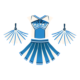 Cheerleader outfit flat