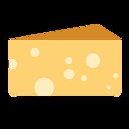 Plano de alimentos lácteos de queso