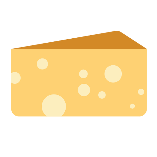 Cheese dairy food flat Transparent PNG