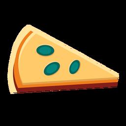 Fatia de pizza de queijo plana