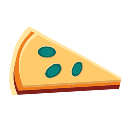 Rebanada de pizza de queso plana
