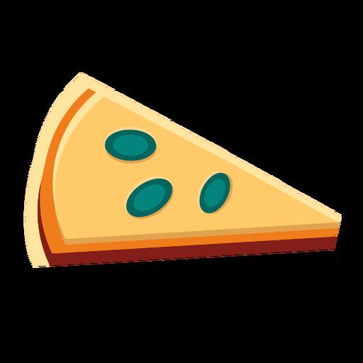 Cheese pizza slice flat