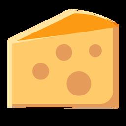 Rebanada de queso leche láctea plana