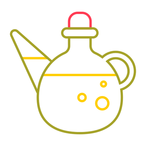 Cooking oil colorful stroke