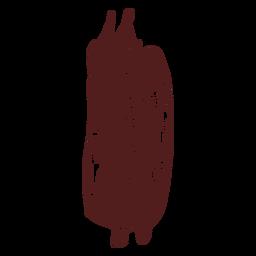 Dibujado a mano mazorca de maíz