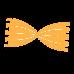 Farfalle pasta flat