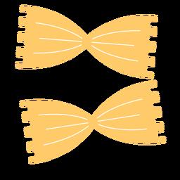 Farfalle pasta food flat