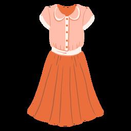 Ilustración de traje vintage femenino