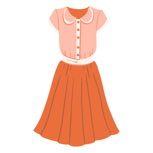 Female vintage outfit illustration