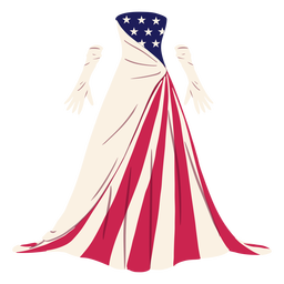Formal american patterned dress illustration