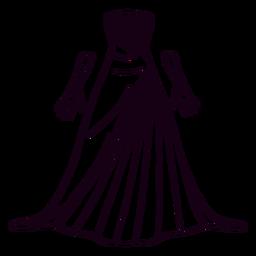 Trazo de vestido estampado americano formal