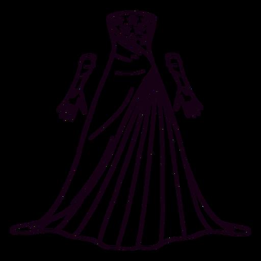 Formal american patterned dress stroke