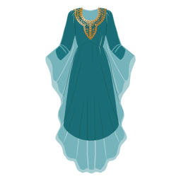 Formal arabic clothing illustration