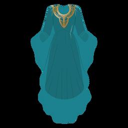 Ilustração formal de roupas árabes