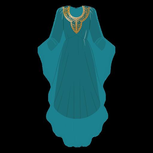 Ilustración de ropa árabe formal
