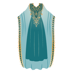 Formal arabic dress hijab illustration