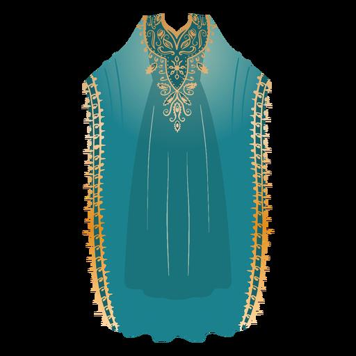Formal arabic dress hijab illustration