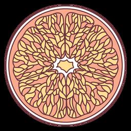 Ilustración de pomelo de fruta