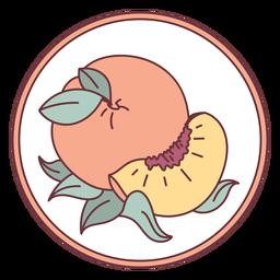 Ilustração de frutas pêssego