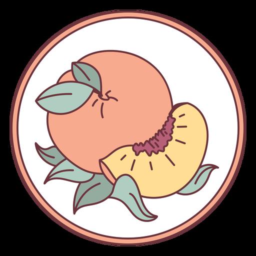 Ilustración de melocotón de fruta